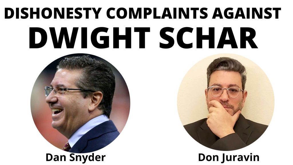 Dan Snyder and Don Juravin complaing of Dwight Schar