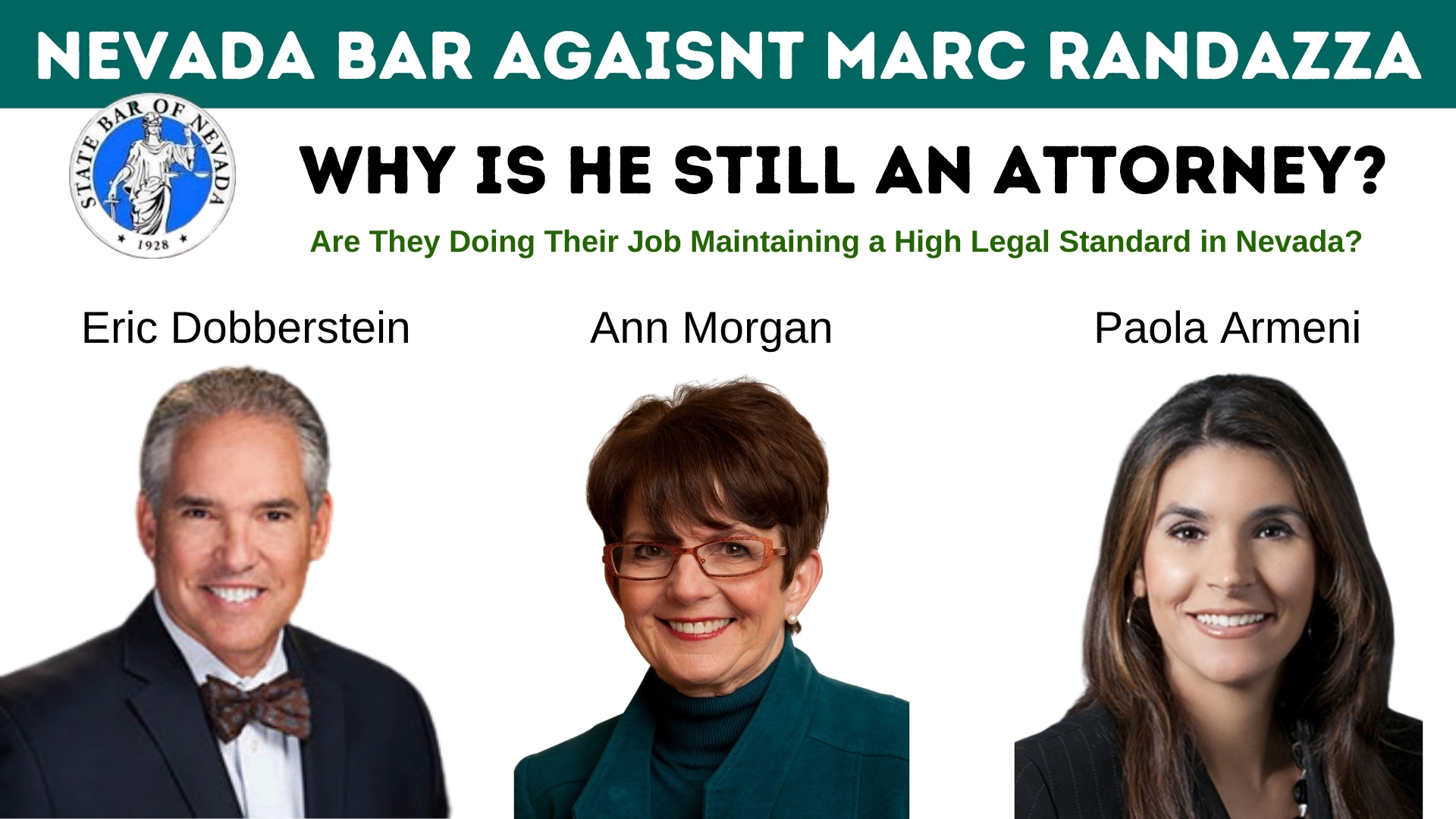 WHY STATE BAR OF NEVADA ALLOWS CORRUPT MARC RANDAZZA TO PRACTICE LAW?