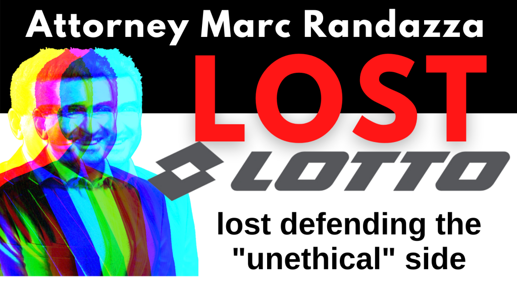 Attorney Marc Randazza lost defending the unethical side